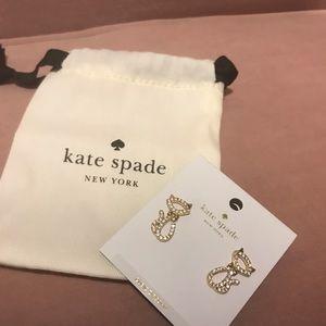 NWT - Kate Spade ♠️ Kitty Cat Earrings; Soo Cute!!